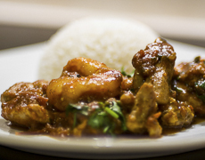 Curry de Poulet et Crevette