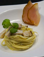Spaghetti with Smoked Marlin